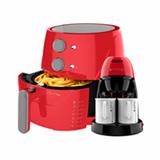 Kit Cadence Colors Vermelho - Fritadeira e Cafeteira Single - 127V
