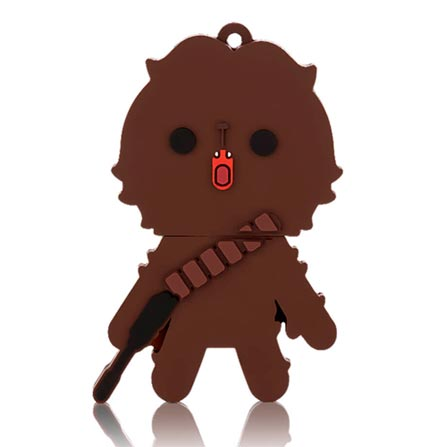 Pen Drive Multilaser, Chewbacca com 8 GB Preto PD041