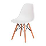 Cadeiras Eiffel Eames DSW Branca Base Madeira