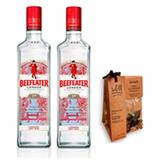 Kit 2 Gin Beefeater 750ml + Especiarias para Gin e Tonica Begin