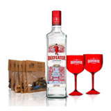 Kit Gin Beefeater Dry 750ml + Especiarias para Gin Tonica beGIN + 2 Tacas Acrilicas