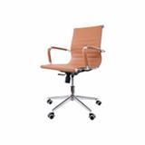 Kit 2 Cadeiras De Escritorio Diretor Charles Eames Eiffel Caramelo