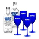 Kit Vodka Absolut 2 Unidades 750ml + 4 Tacas Absolut