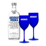 Kit Vodka Absolut Original 1L + 2 Tacas