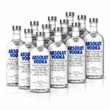 Kit Vodka Absolut Original 750ml - 12 Unidades