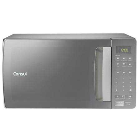 Micro-ondas Consul com 32 Litros de Capacidade e Funcao Descongelar Cinza - CMS45AR