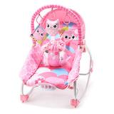 Cadeira de Balanco para Bebes com Mobile Rosa - Weego