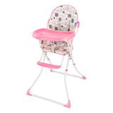 Cadeira Alta de Alimentacao Slim Gatinho Rosa - Multikids Baby