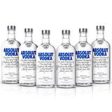 Vodka Absolut Original 750 ml - 06 Unidades