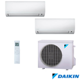 Ar Condicionado Multi Split Inverter Daikin com 1x 9.000 BTUs + 1x 12.000 BTUs, Quente e Frio, Turbo, Branco