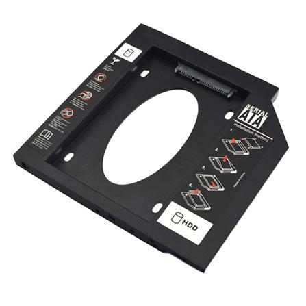 Adaptador HDD/SSD Para Notebook Via Baia De 9,5Mm CD/DVD Multilaser - GA172
