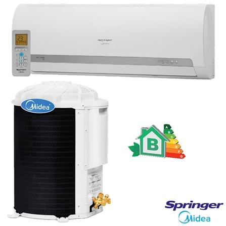 Ar Condicionado Split Hi-Wall Springer Midea com 22.000 BTUs, Quente e Frio, Turbo, Branco