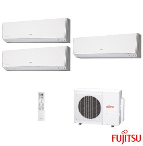 Ar Condicionado Multi Split Fujitsu Inverter com 7.000 + 9.000 + 12.000 BTUs, Quente e Frio, Branco - ASBG07LMCA-BR