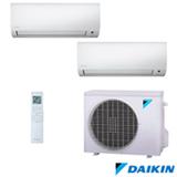 Ar Condicionado Multi Split Inverter Hi-Wall Daikin com 1 x 9.000 BTUs + 1 x 12.000 BTUs, Quente e Frio, Turbo, Branco
