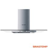 Coifa de Ilha Brastemp 100 cm com 04 Velocidades, Painel LCD e Timer Auto-Desligamento Inox - BAV10AR