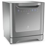 Lava-Loucas Electrolux com 08 Servicos, 06 Programas de Lavagem e Painel Blue Touch Prata - LE08S