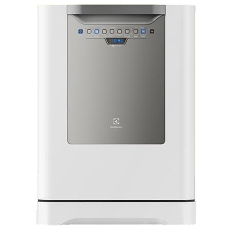 Lava-Loucas Electrolux Branca com 14 Servicos, 06 Programas de Lavagem e Painel Blue Touch - LV14B