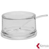 Acucareiro com Colher de Acrilico Transparente - Kenya