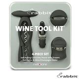 Jogo para Vinho com 4 Pecas em Plastico Wine Tool Preto - Rabbit