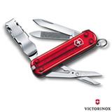 Canivete Nail Clip 580 com 08 Funcoes em ABS e Celidor Vermelho Translucido - Victorinox