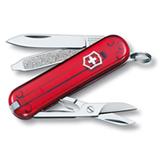 Canivete Classic SD com 07 Funcoes em ABS e Celidor Vermelho Translucido - Victorinox