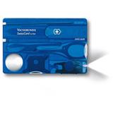 SwissCard Lite com 14 Funcoes em ABS e Celidor Azul Translucido - Victorinox