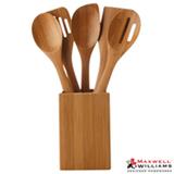 Jogo de Utensilios Bamboozled para Cozinha com 05 Pecas e Suporte em Bambu - Maxwell amp; Williams