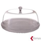Prato para Bolo em Acrilico Diamond Transparente - Kenya