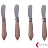 Jogo de Espatulas Nude com 04 Pecas em Aco Inox - Kenya