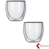 Conjunto de Copos Hot Cold para Cha em Vidro 250 ml com 02 Pecas - Kenya