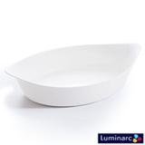Travessa Oval Luminarc Smart Cuisine Branca em Vidro com 28cm