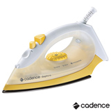Ferro a Vapor Cadence Saphiro Yellow, Base antiaderente mais deslizante, Controle de Temperatura - IRO200