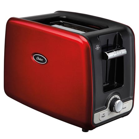 Torradeira Oster Square Retro Toaster com 7 Niveis de Tostagem Vermelha - TSSTTRWA2R