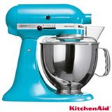 Batedeira Kitchenaid Stand Mixer Artisan com 10 Velocidades e 03 Batedores Crystal Blue - KEA33CW