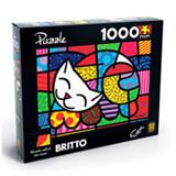 Puzzle 1000 pecas Romero Britto - Cat - Grow