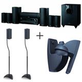 Home Theater Onkyo 7.1 canais, 1030W + Pedestal Airon para Caixas Acústicas Mini + Suporte Volgels para Caixas Acústicas