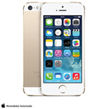 iPhone 5s com 16GB, Processador A7, iOS 7, Câmera de 08 MP, Display de 4', 4G e Wi-Fi, Dourado ME434