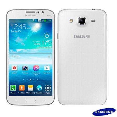 Imagem para Smartphone Samsung Galaxy Mega Duos com Android 4.2, Processador Dual Core, 3G, Wi-Fi, Branco - I9152 a partir de Fast Shop
