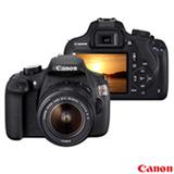 """Câmera Digital Canon EOS Rebel T5 Preta, 18MP, Tela de LCD 3.0"""", Lente 18-55mm III, Basic+ e Live View Mode"""