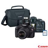 Kit Câmera Canon T3 com Lente EF-S18-55mm III + Bolsa + Cartão de Memória 8GB - EOS Rebel T3
