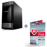 Computador Lenovo H520G, Intel® Core™ i7-3770s, 8GB de Memória, 1TB de HD e Windows 8 com McAfee® LiveSafe
