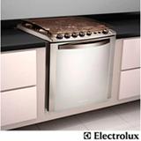 Fogão de Embutir Electrolux Celebrate 4 Bocas com Acendimento Automático, Grill Elétrico, Timer, Inox - 56TXEBIV89