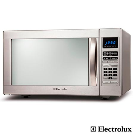 Imagem para Forno de Micro-ondas Electrolux 45L com 10 Níveis de Potência, Timer, Acabamento em Aço Inox - MEX55 a partir de Fast Shop
