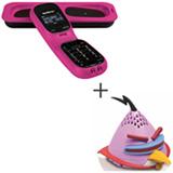 Telefone sem Fio Intelbras TS 80 V Rosa DECT 6.0 com Viva-Voz + Mini Caixa Acústica Angry Birds com 2,5 W - Gear4 - PG781G