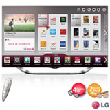 Smart TV 3D LED LG 60'' Cinema 3D com Controle Smart Magic 60LA8600