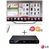 Smart TV LED 3D LG 55' com Cinema, Controle Smart Magic - 55LA8600 + Blu-ray Player LG 3D