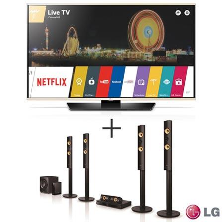 """Smart TV LED LG Full HD 49"""" com Smart Share - 49LF6350 +"""