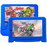 Tablet Multilaser Disney Vingadores Plus Azul com 7, Wi-Fi, Android, Processador Quad-Core 1,2GHz e 16GB
