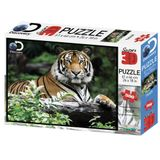 Quebra Cabeca Super 3D Modelo Tigre com 500 pecas - Multikids