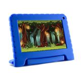 Tablet Kid Pad Lite Azul Multilaser com 7, Android 8.1, Processador Quad-Core e 16GB